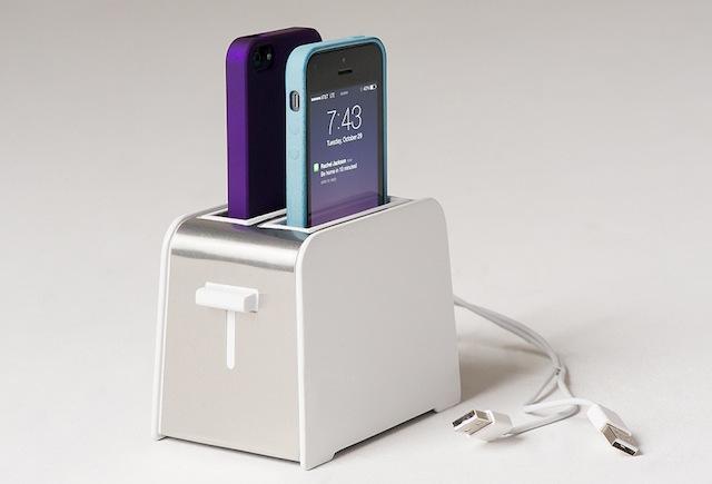 Novo aparelho para recarregar baterias parece com torradeira