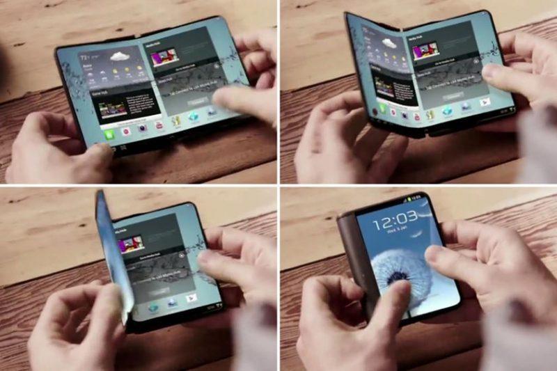 Samsung poderá lançar um smartphone flexível ou dobrável