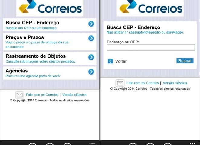 App Rastreador Correios está disponível para Windows Phone