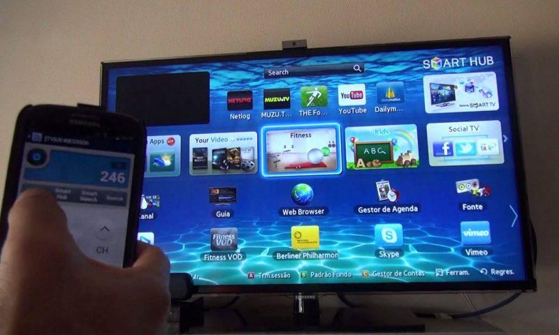 Como usar smartphones como controle remoto para SmartTVs da Samsung